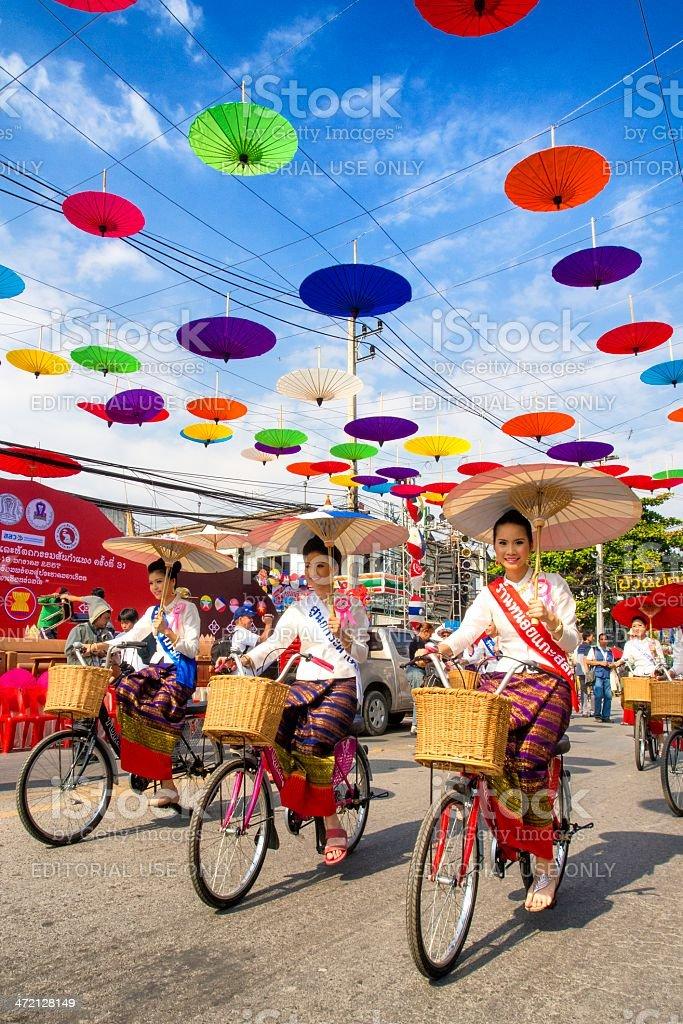 31th anniversary Bosang umbrella festival royalty-free stock photo