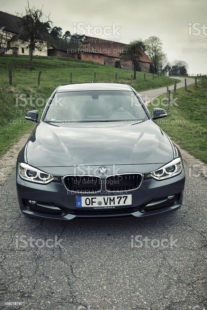 BMW 320d 2013 (E90) royalty-free stock photo