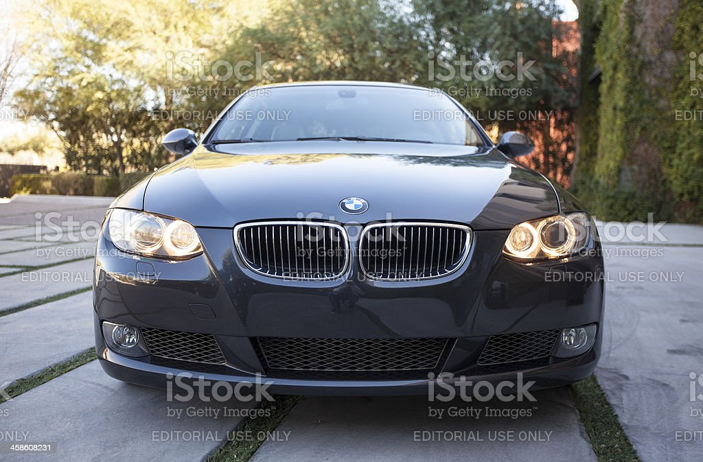 BMW 335i Front end. royalty-free stock photo
