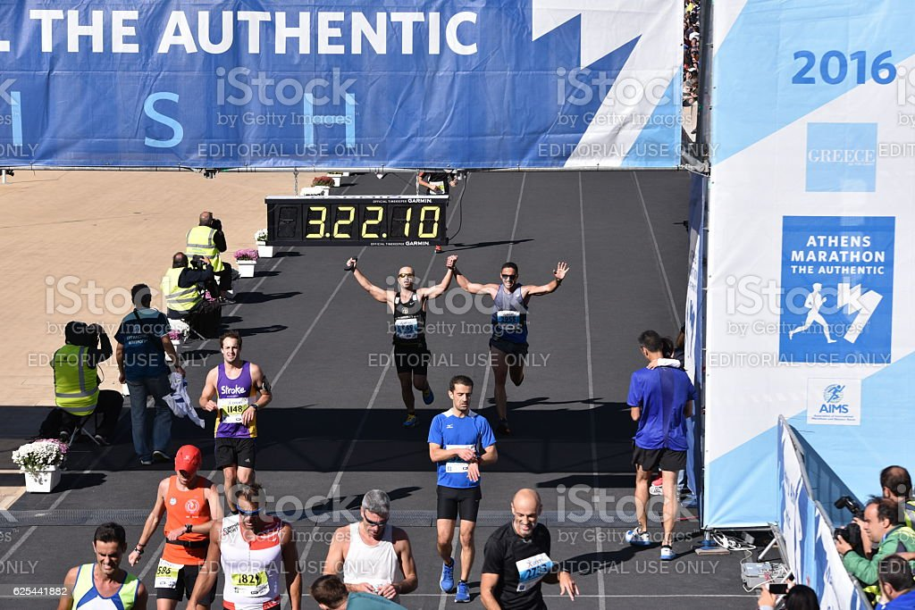 34th Athens Classic Marathon moments stock photo