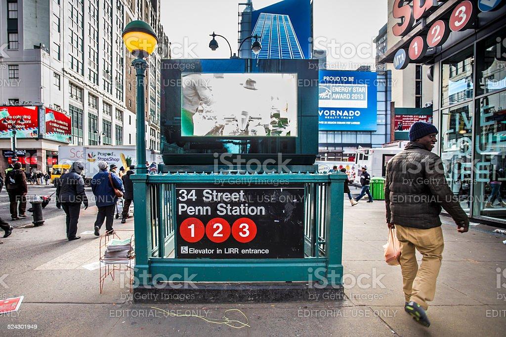 34th Street Penn Station NYC stock photo
