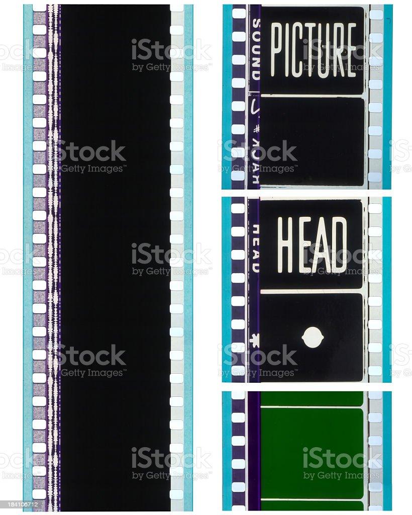 35mm cinema films stock photo