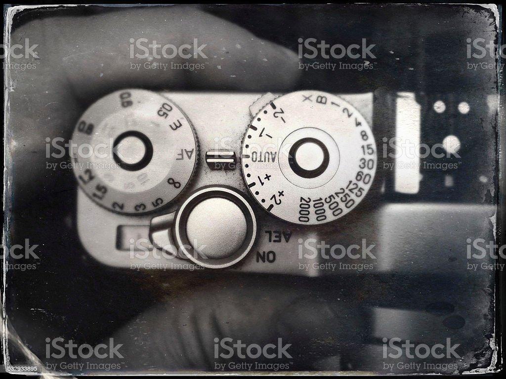 35mm film camera stock photo
