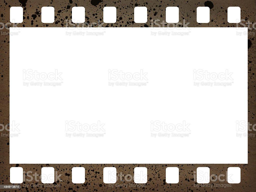 35mm film frame stock photo