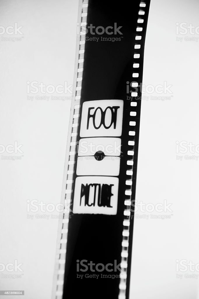 35mm film in black and white stock photo