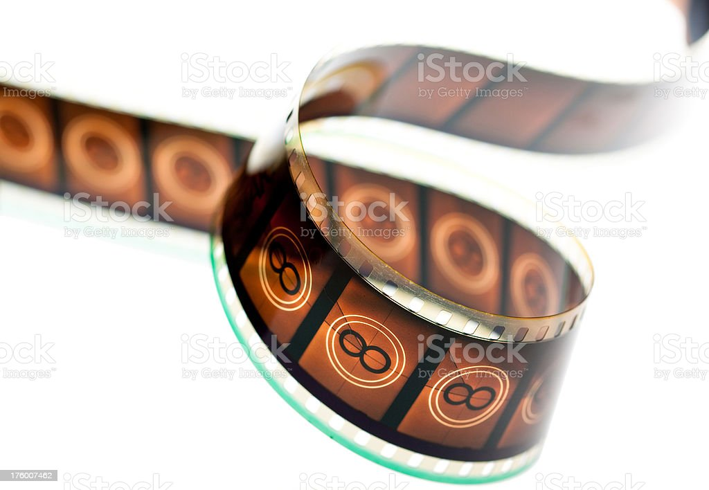 35mm film isolated on white stock photo