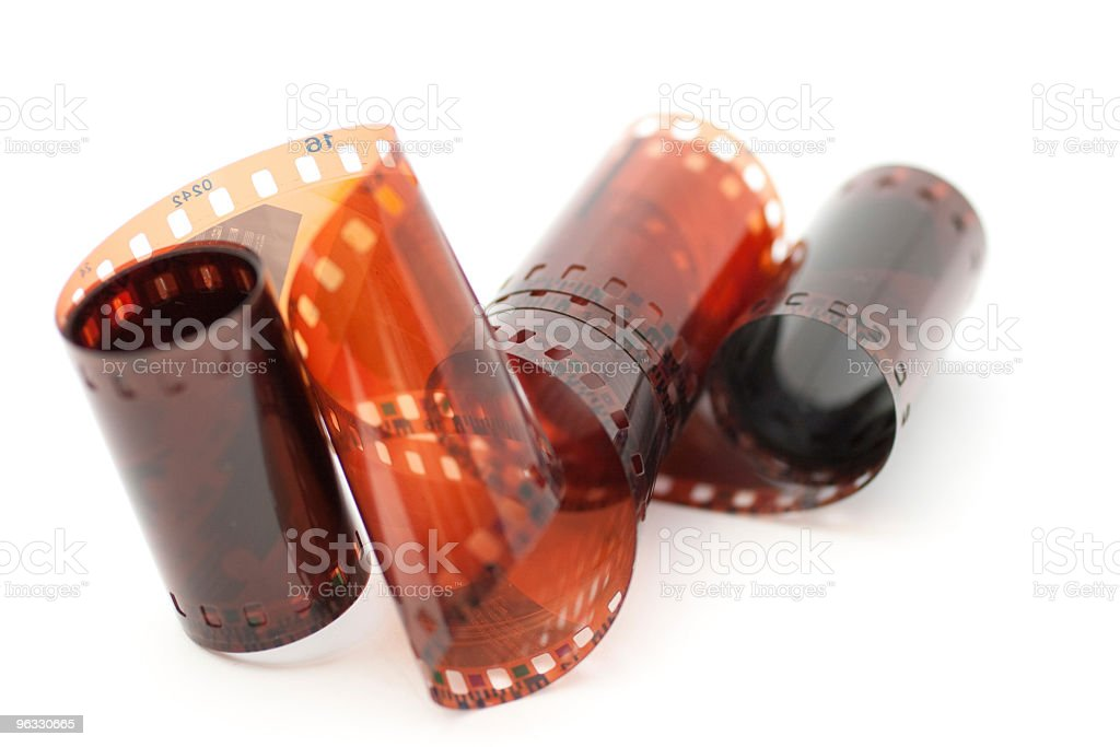 35mm film roll on white background royalty-free stock photo