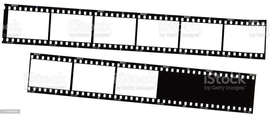 35mm film strips stock photo