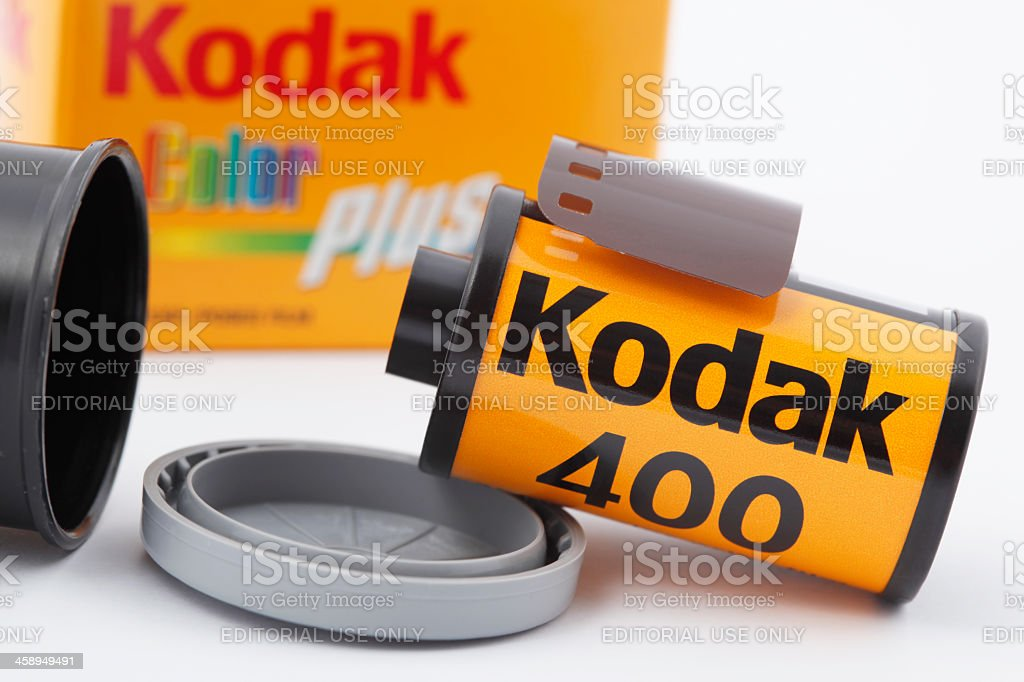 35mm Kodak Camera Film royalty-free stock photo