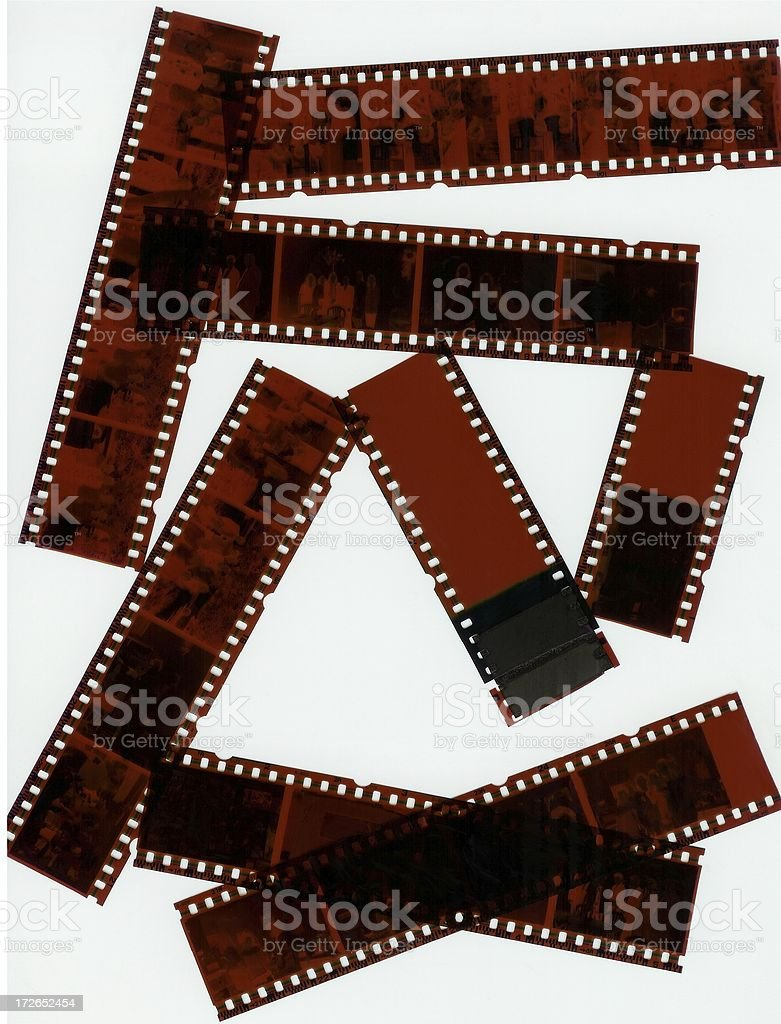 35mm Negatives of People royalty-free stock photo