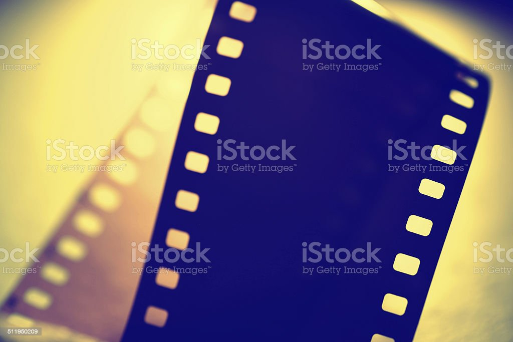 35mm Old Film stock photo
