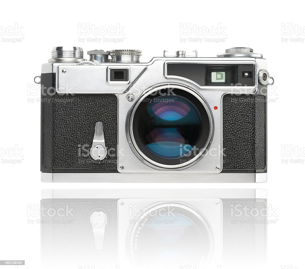 35mm rangefinder camera with clipping path stock photo