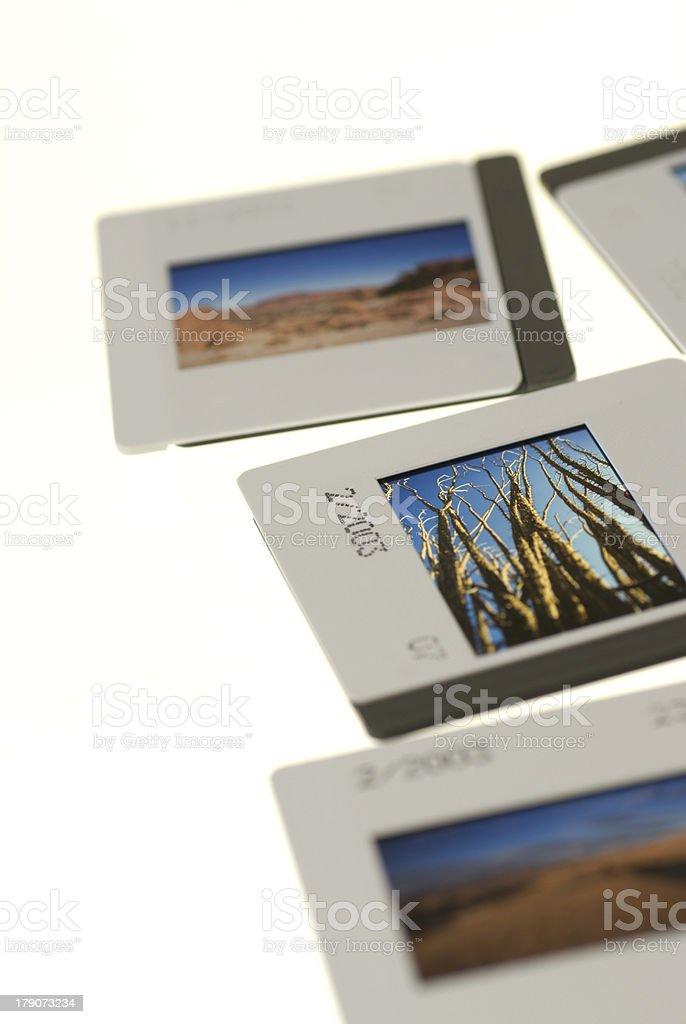 35mm slides, close up royalty-free stock photo