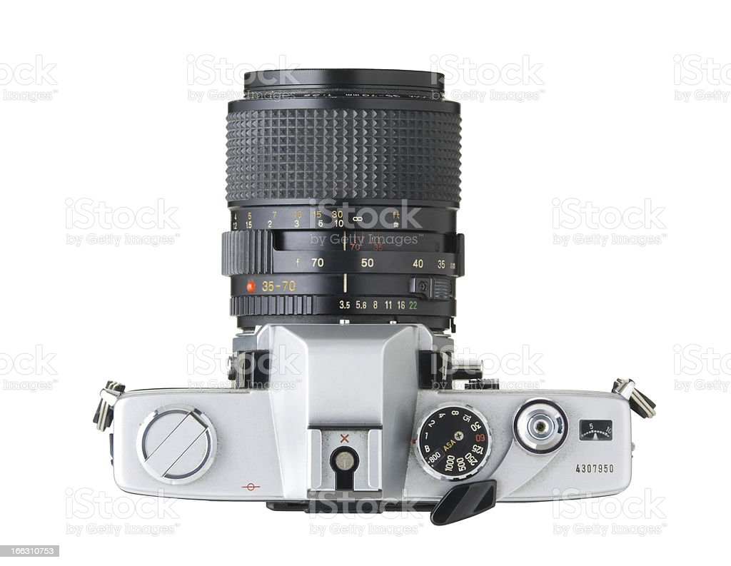 35mm SLR camera top stock photo