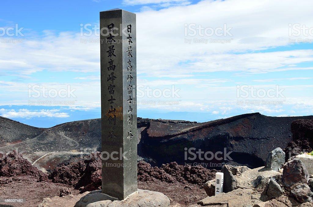 3776m point of Fuji mountaintop stock photo