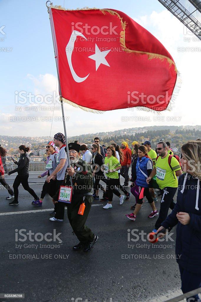 37th Vodafone Istanbul Marathon stock photo