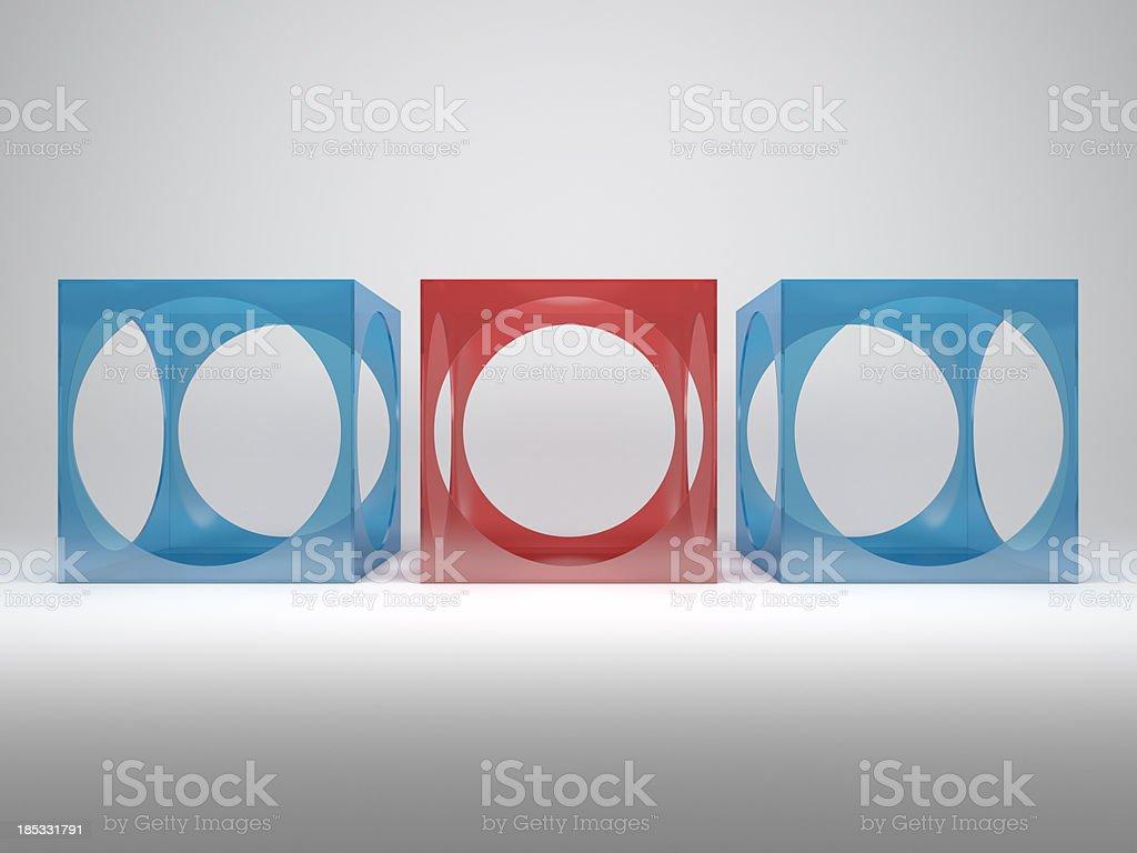 3d abstract advertisement shelves stock photo