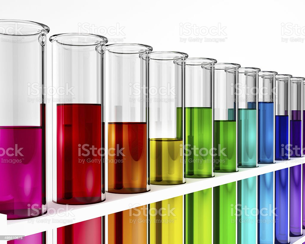 3d abstract chemistry research test tube chemical illustration stock photo
