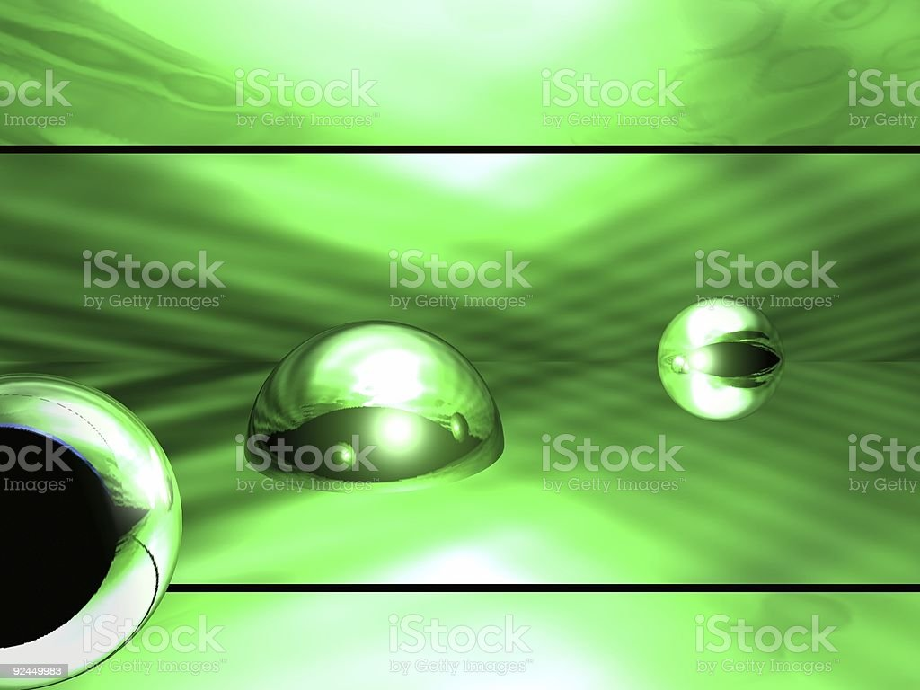 3d Abstract Green Orbs Background royalty-free stock photo
