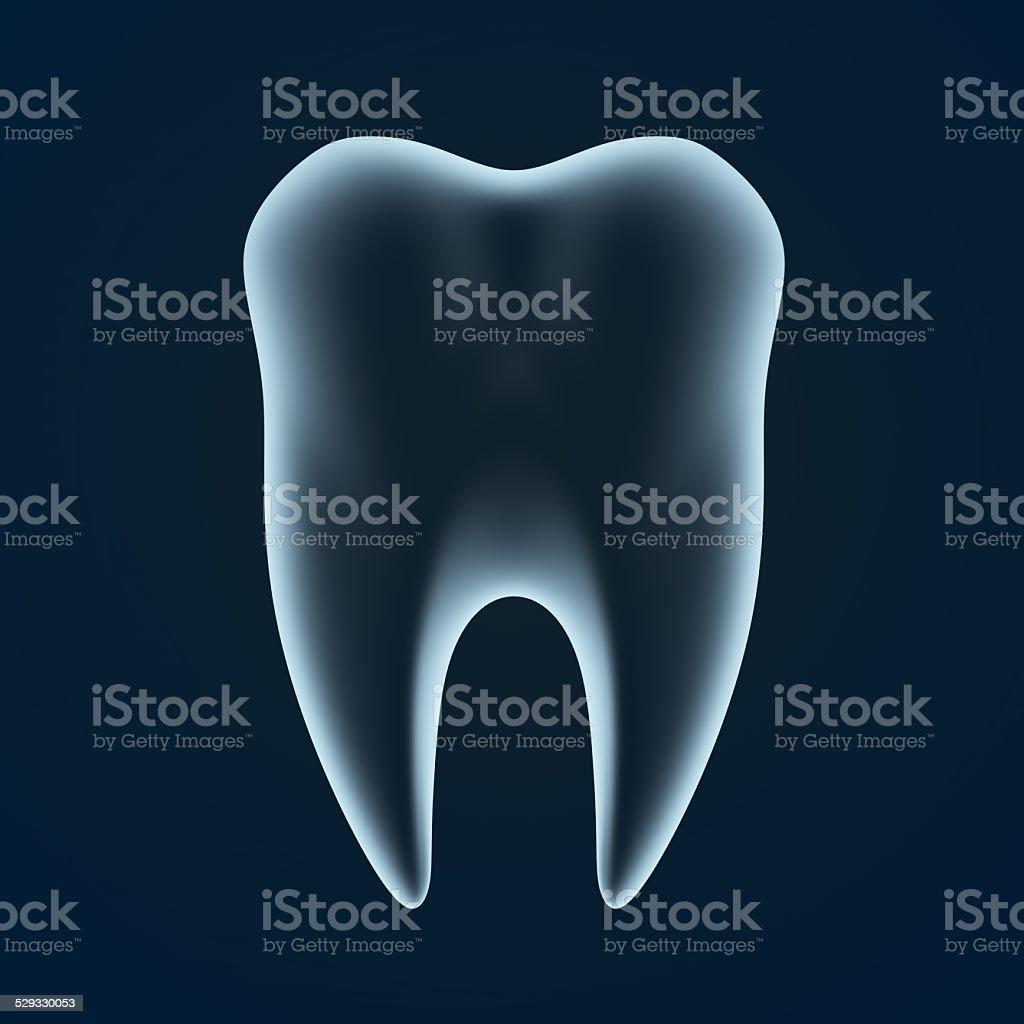3d abstract healthy isolated x-ray dental stock photo