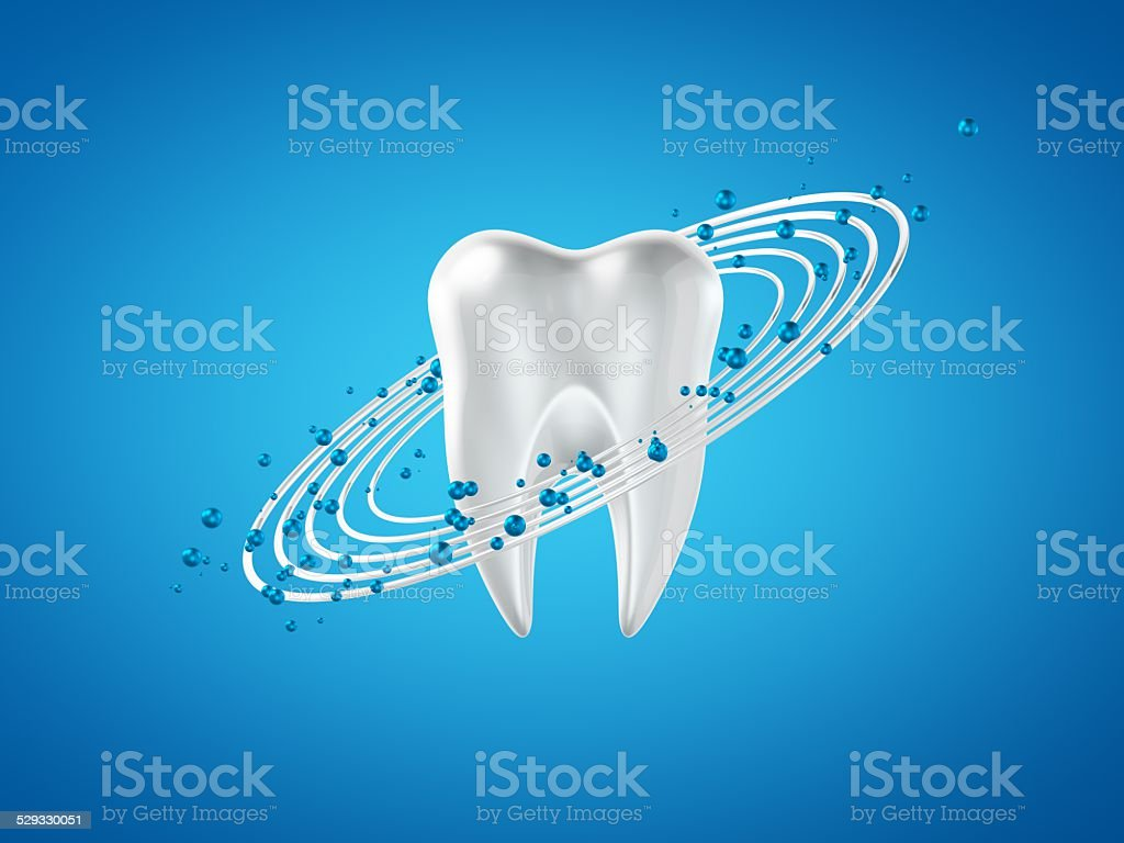3d abstract isolated dental orbital power particle blue background stock photo