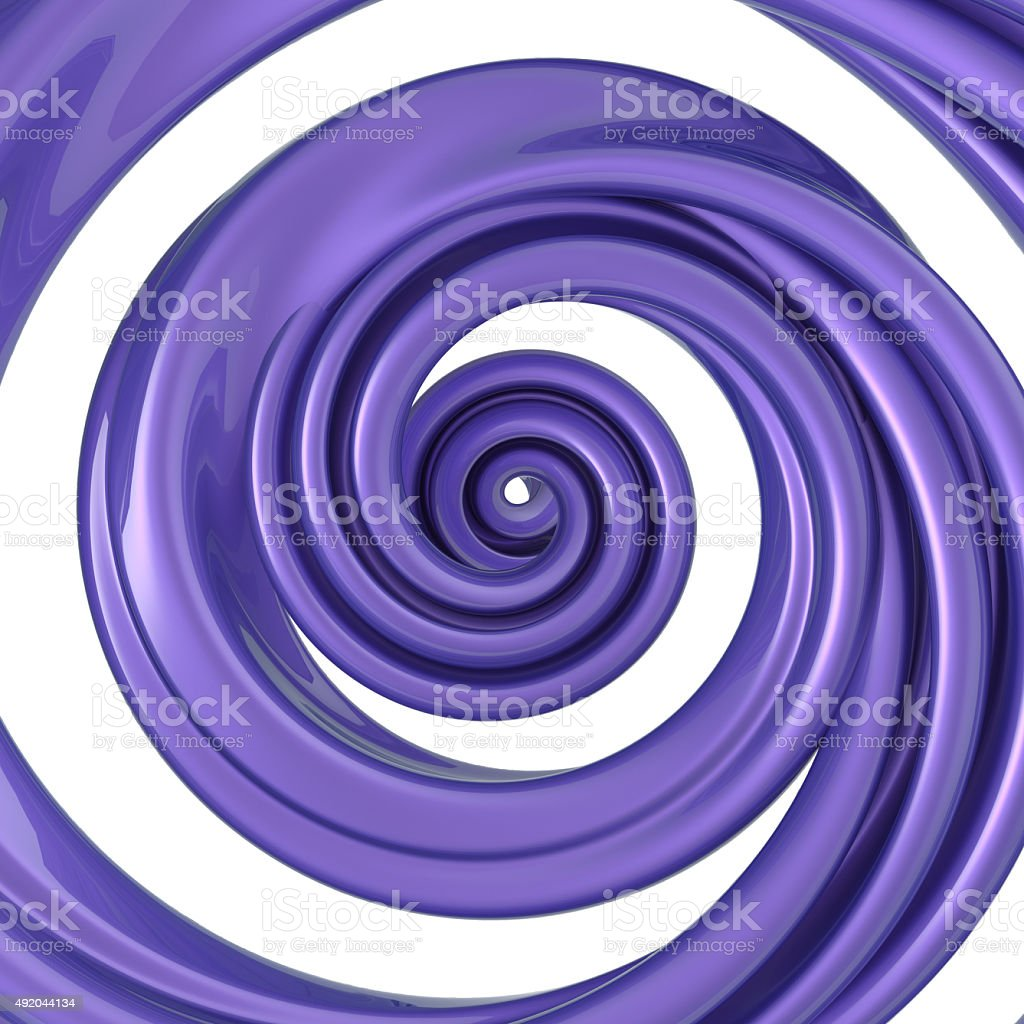 3d abstract liquid glaze syrup swirl, spiral candy cane splash stock photo