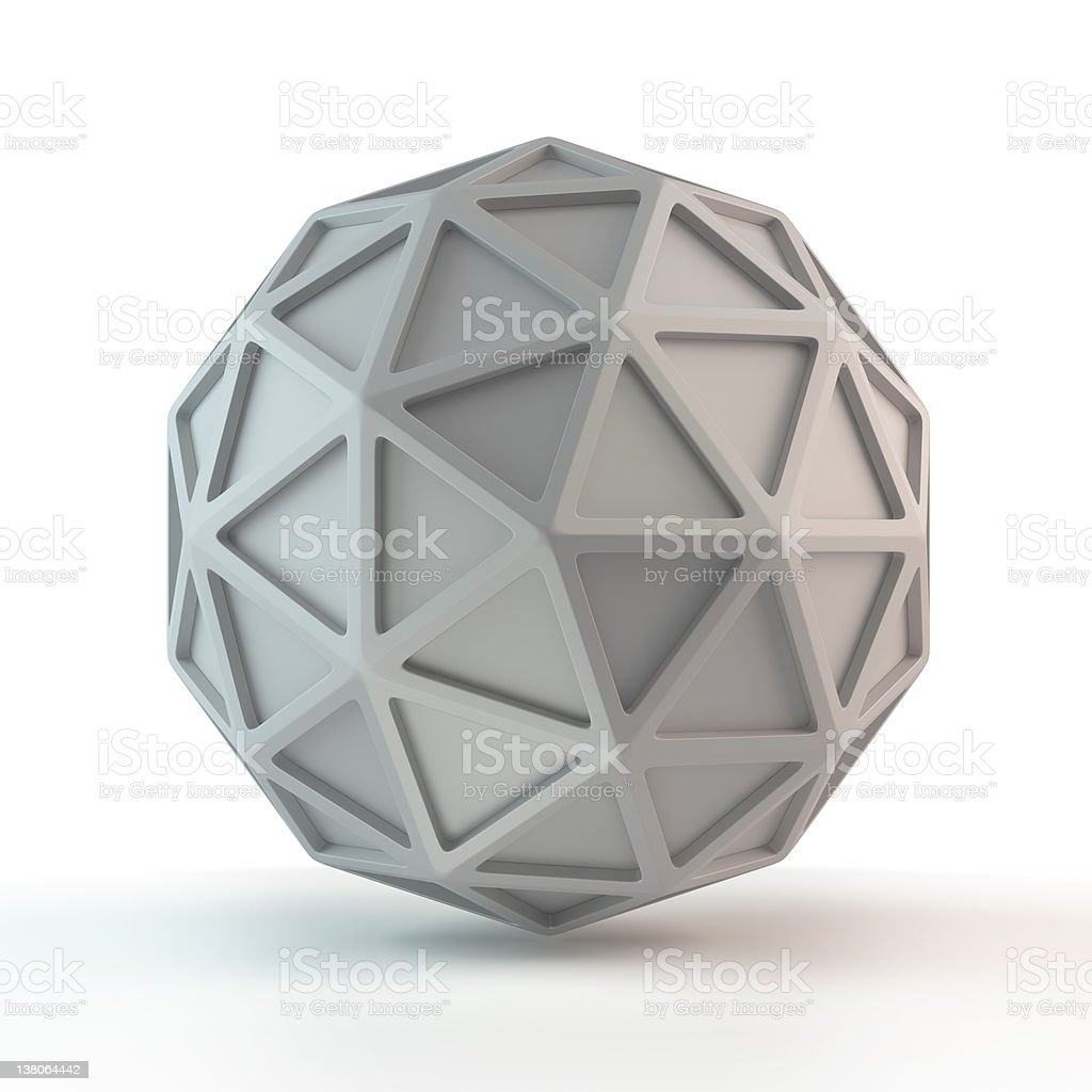 3d abstract network  ball royalty-free stock photo