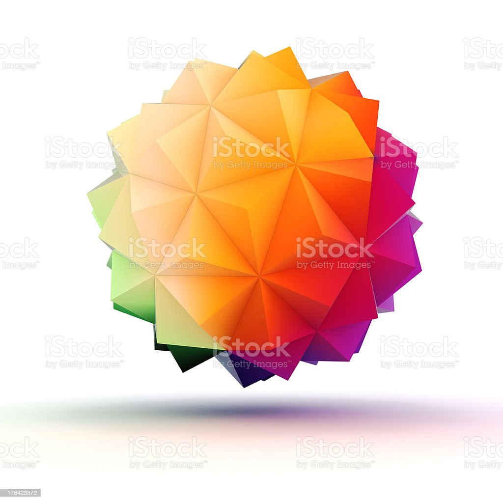 3d abstract object for your design stock photo