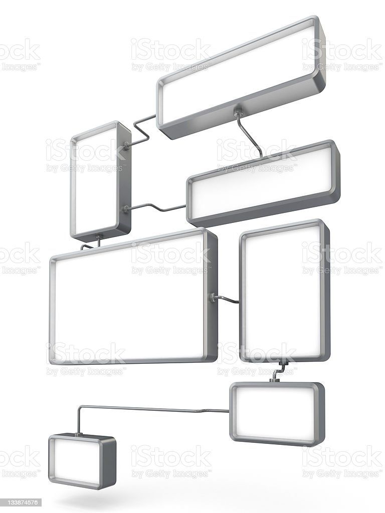 3d advertising diagram royalty-free stock photo