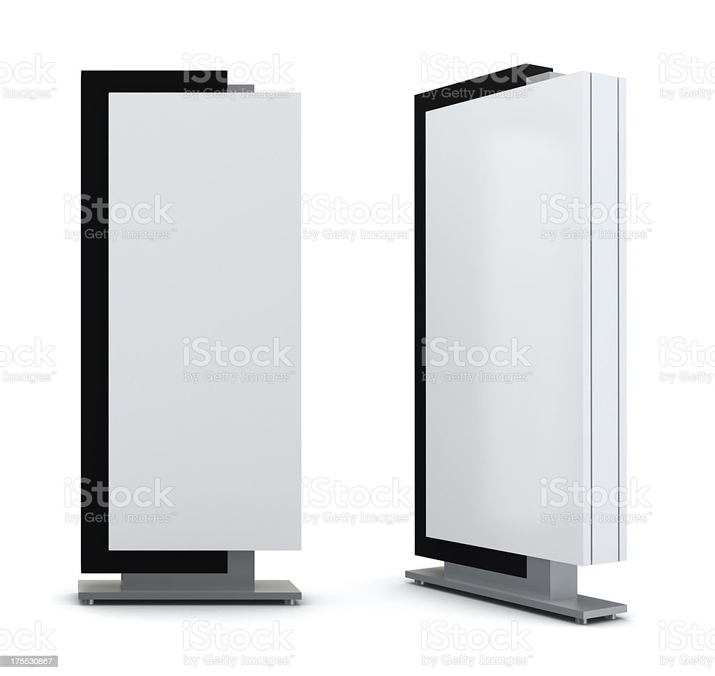 3d advertising panel stock photo