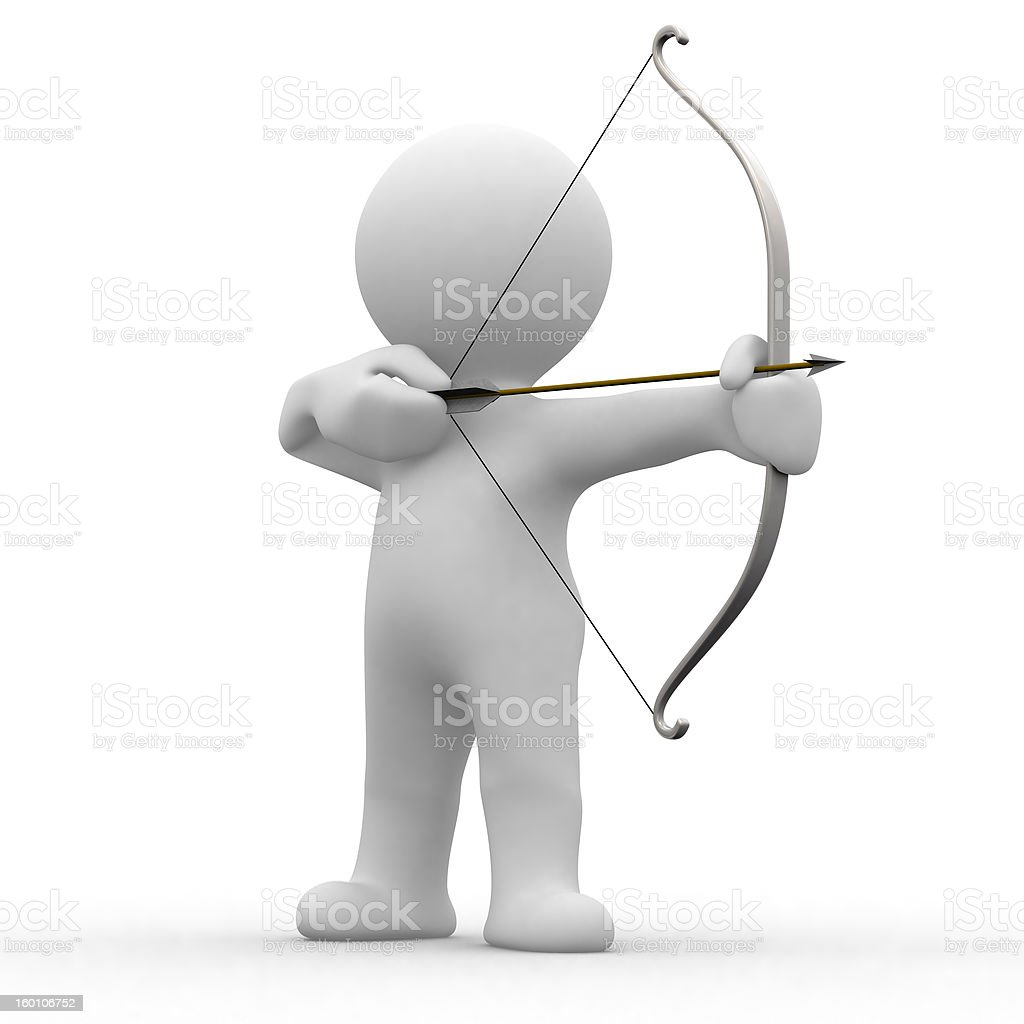 3d archery royalty-free stock photo