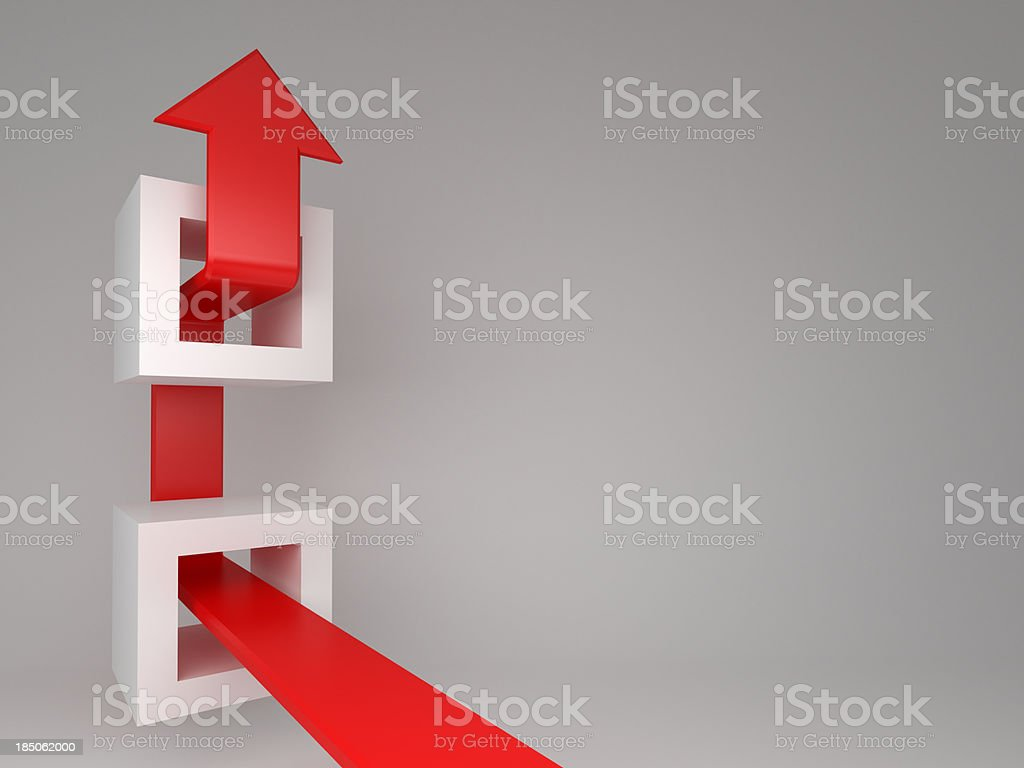 3d arrow  concept background royalty-free stock photo