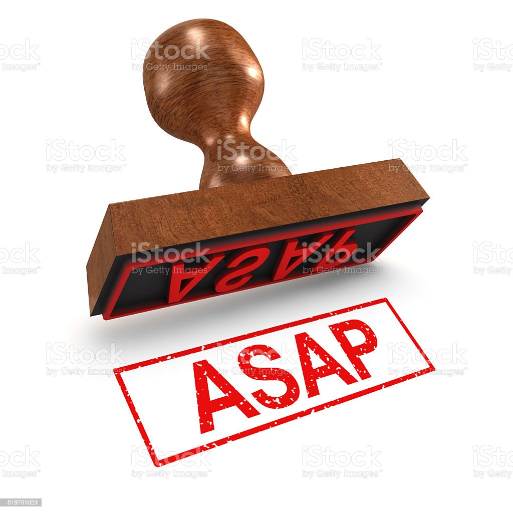 3d Asap rubber stamp stock photo