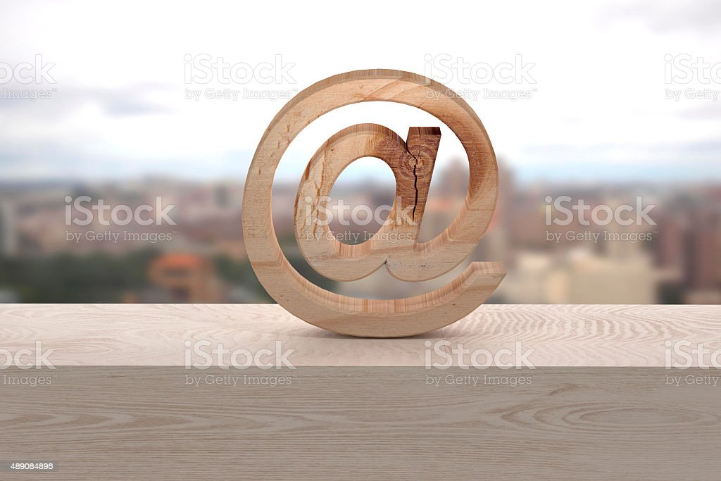 3d at on a window stock photo