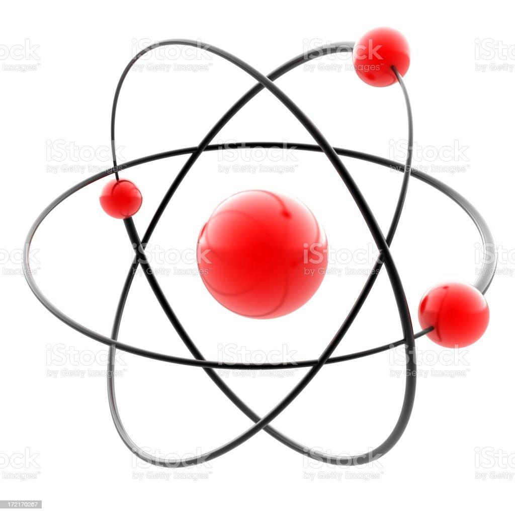 3d atom stock photo