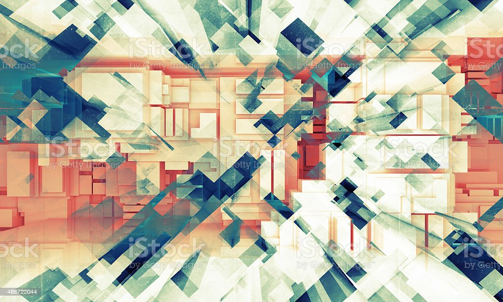 3d background texture with cubic pattern stock photo