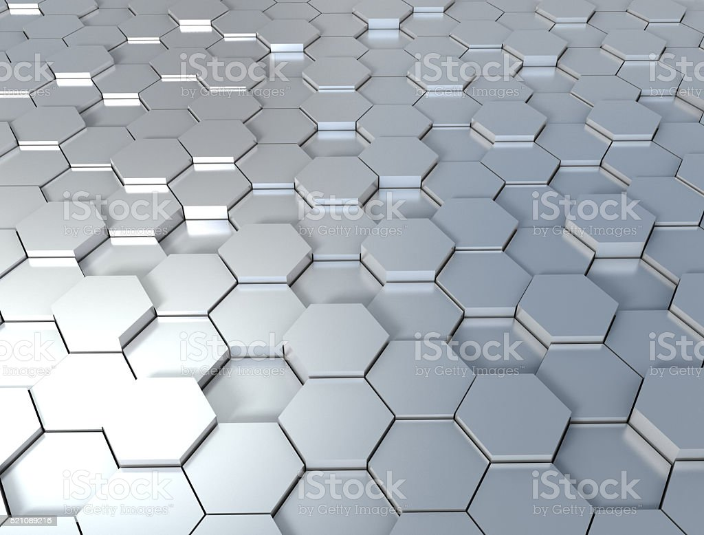3d background with hexagons stock photo