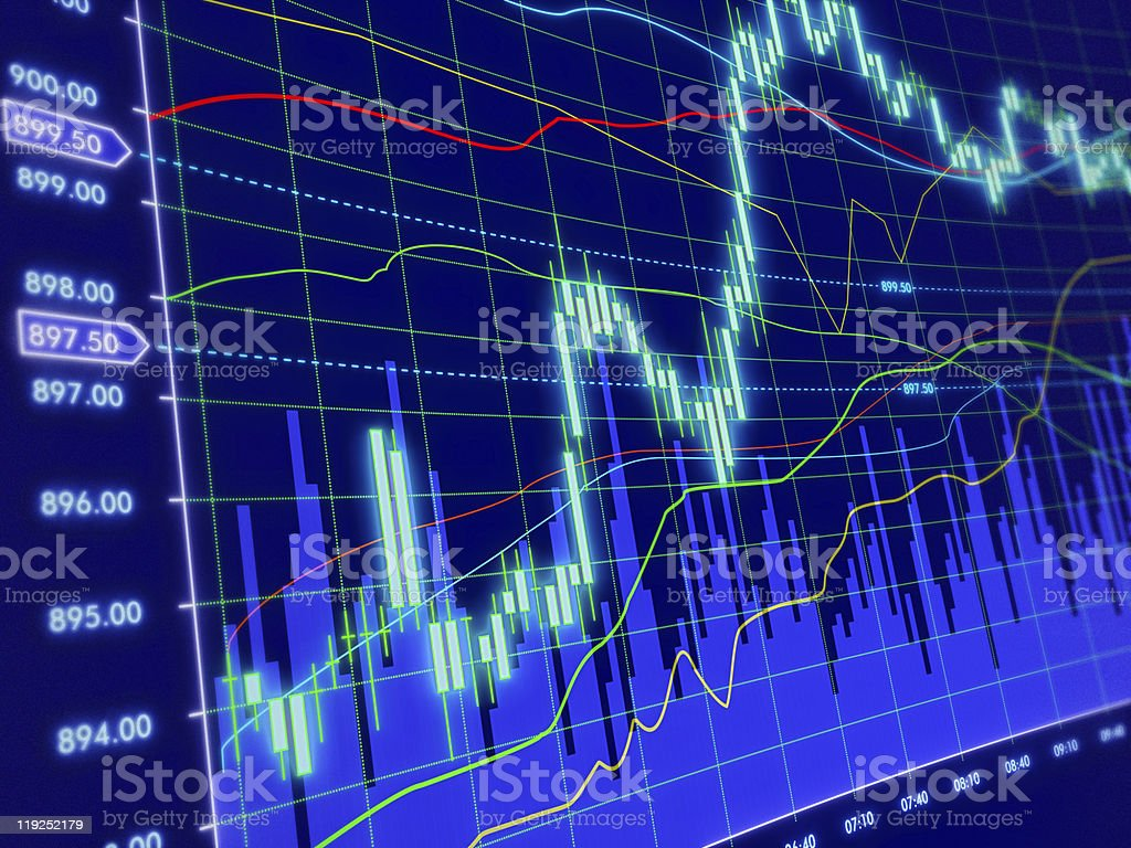 3d background with stock diagram stock photo