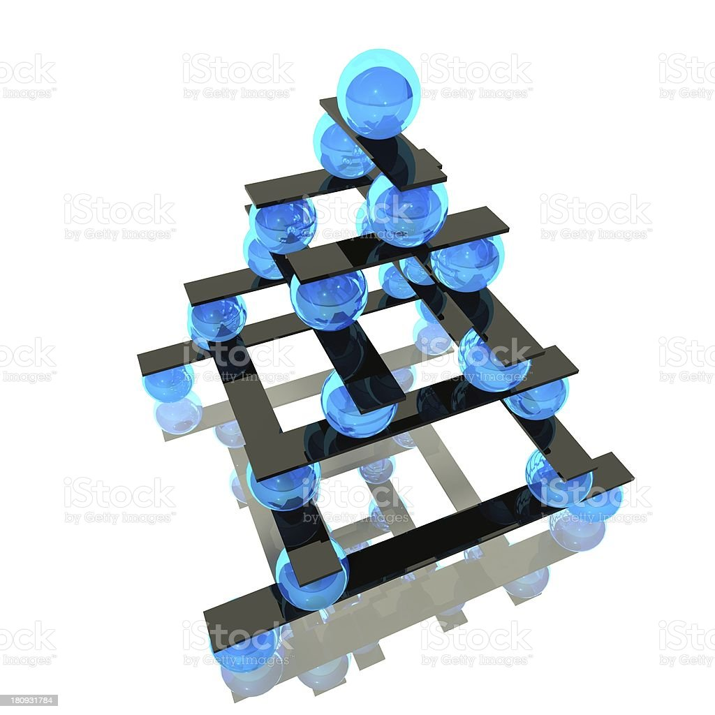 3d ball balance and hierarchy concept royalty-free stock photo