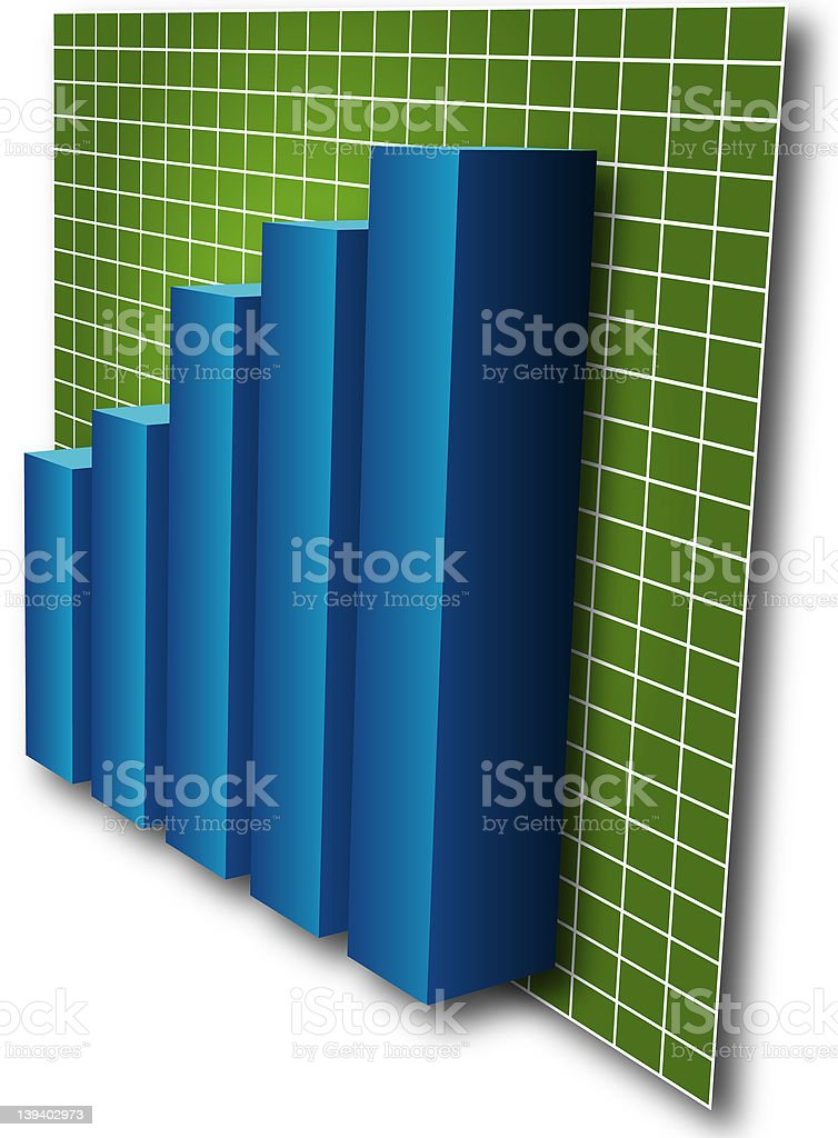 3d Barchart royalty-free stock photo