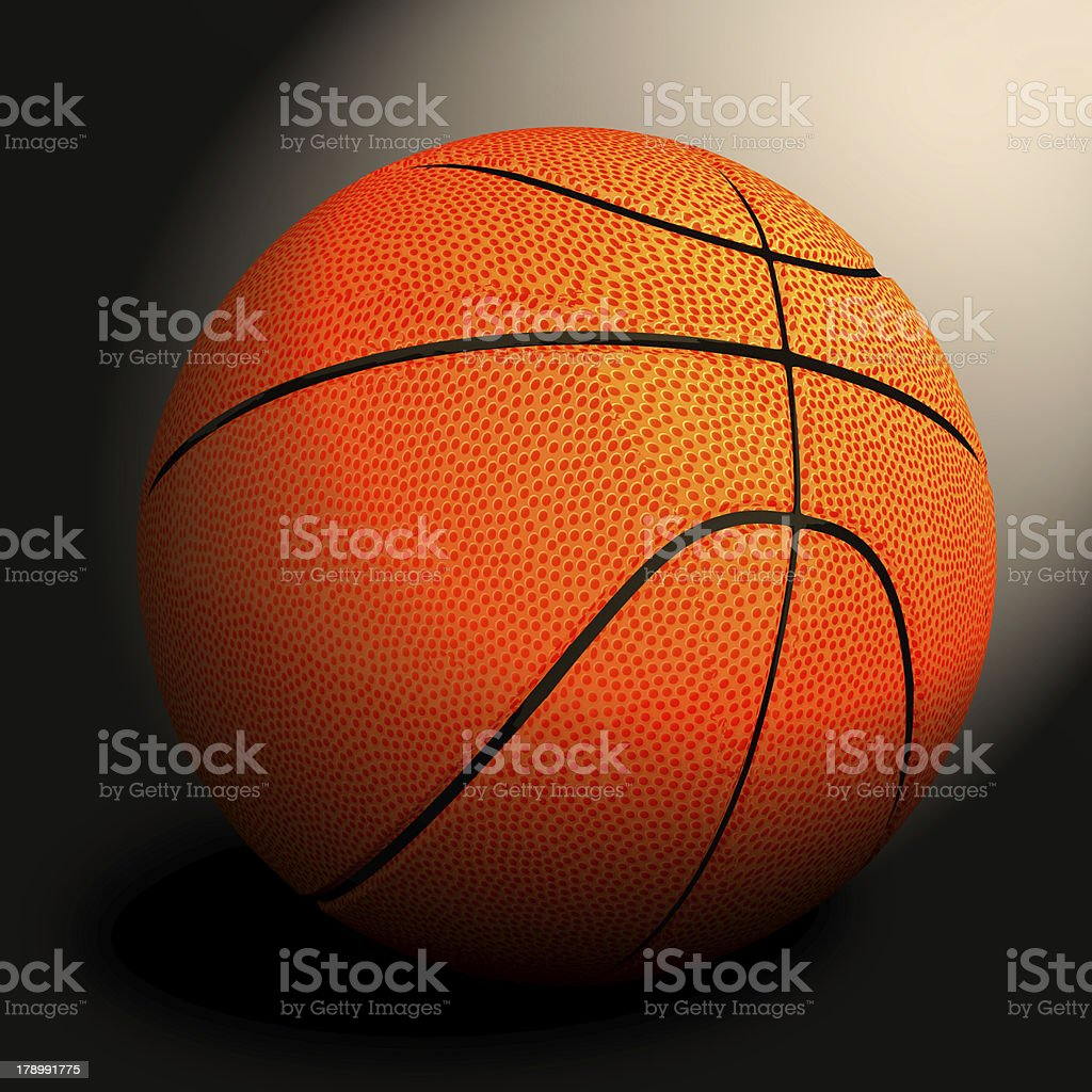 3d basket ball against black stock photo