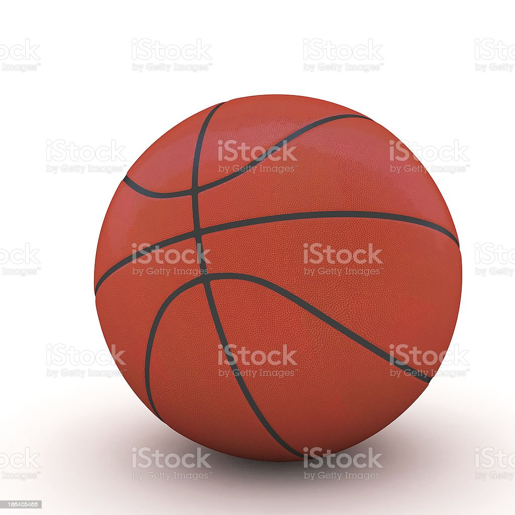 3d Basket ball royalty-free stock photo
