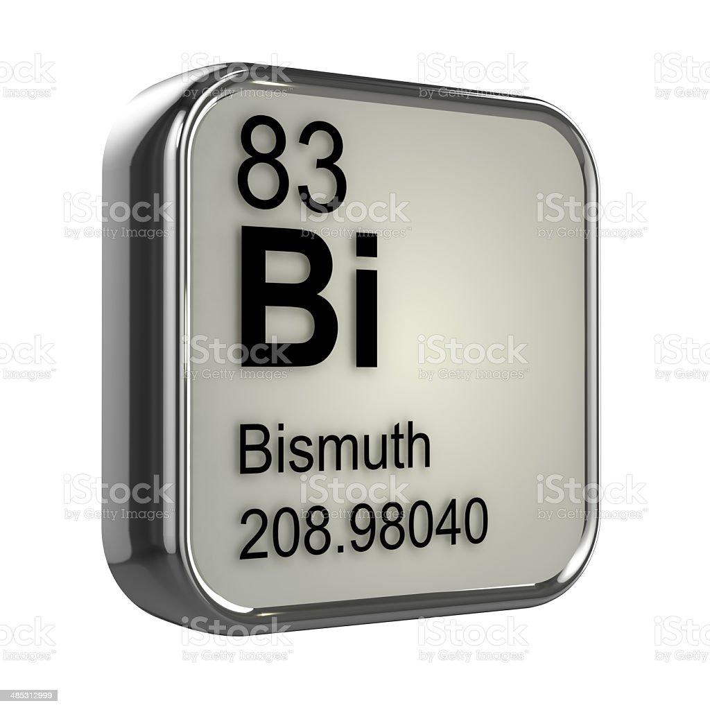 3d Bismuth element stock photo