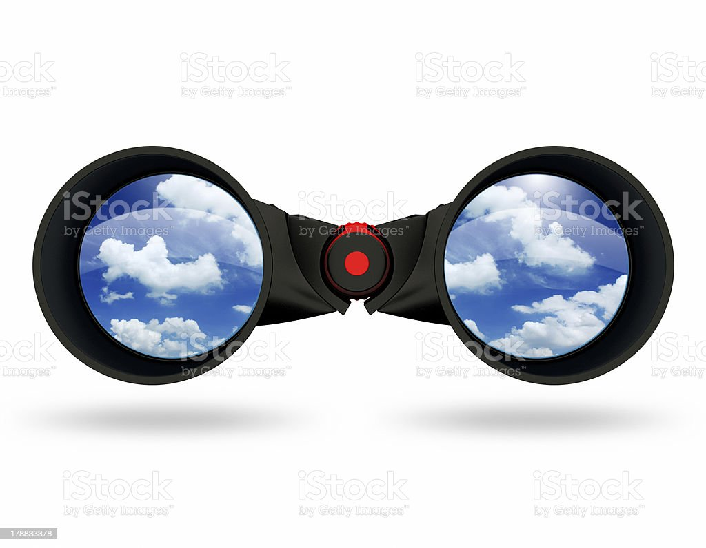 3d Black binoculars royalty-free stock photo