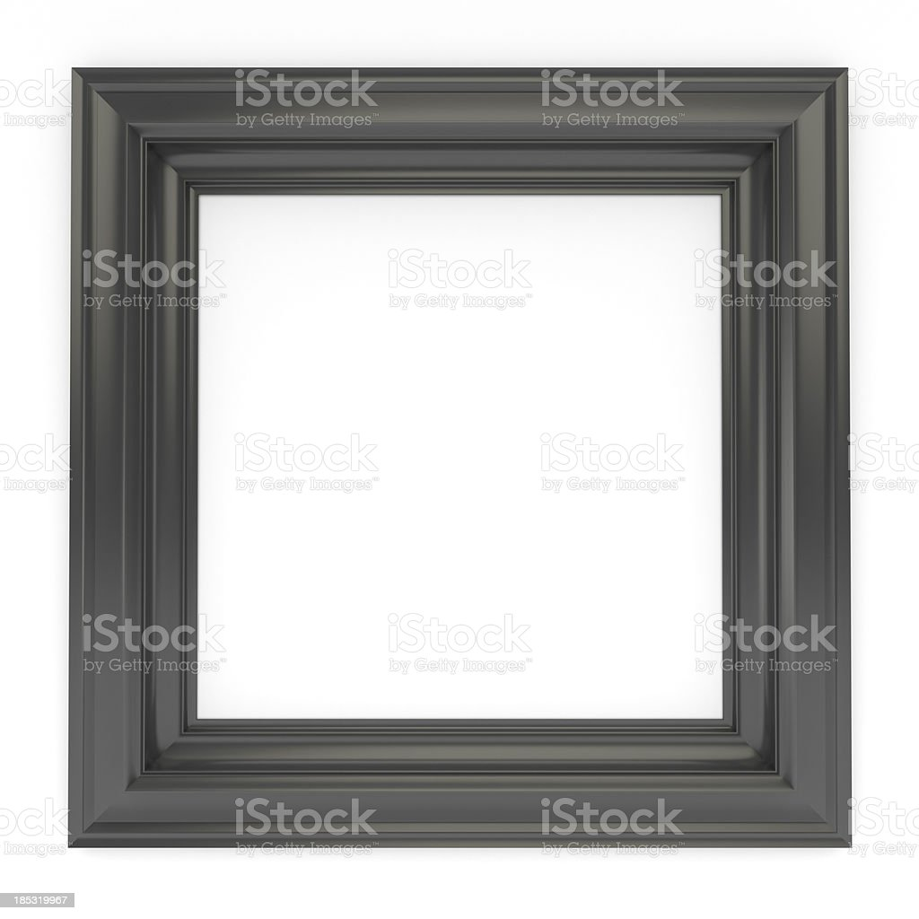 3d black classical frame stock photo