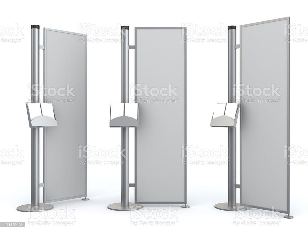 3d blank advertisement information center stock photo
