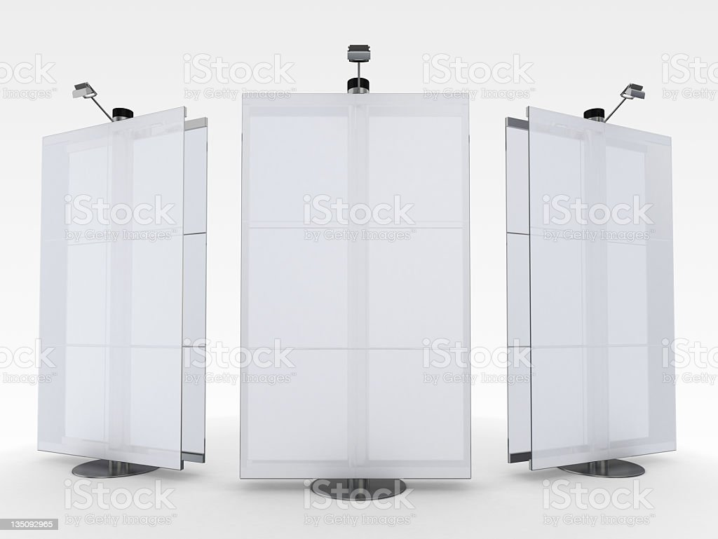 3d blank advertising stand royalty-free stock photo