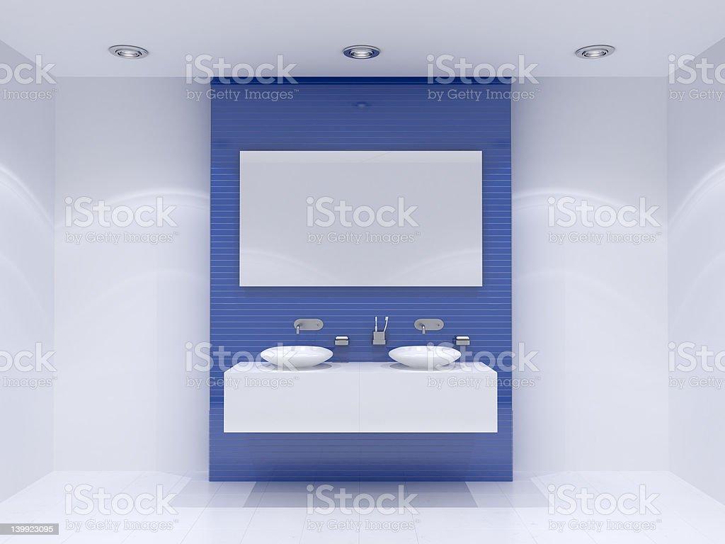 3d blank bathroom stock photo