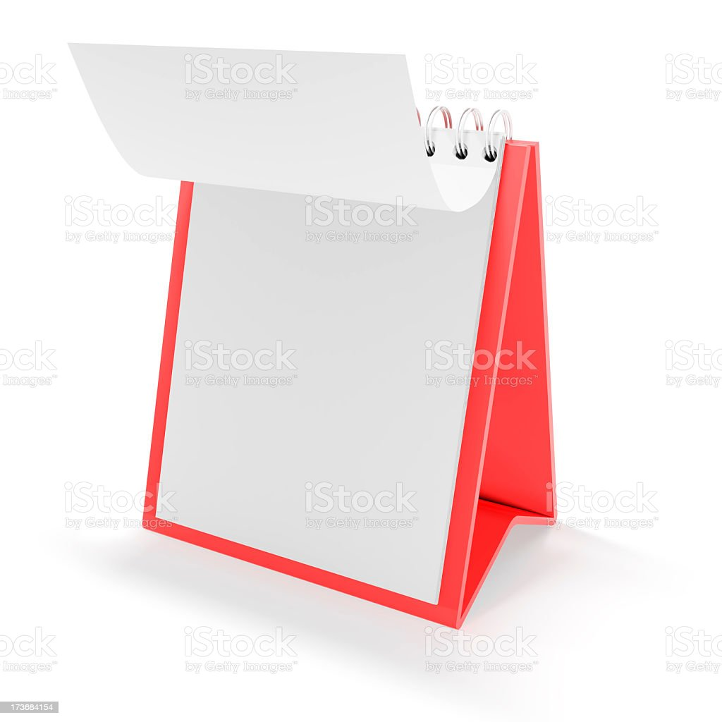 3d blank calendar royalty-free stock photo
