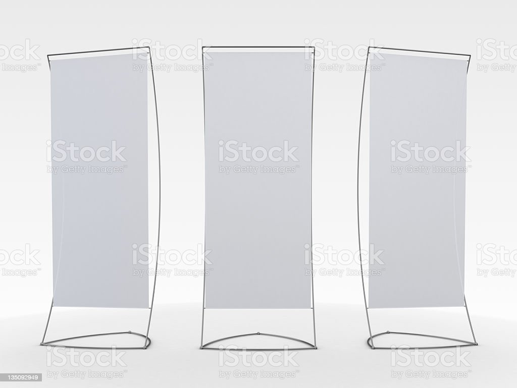 3d blank display stand stock photo
